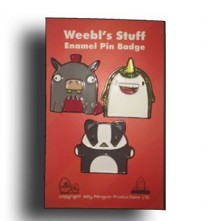 Weebl Stuff Animals Enamel Pin Badge Set Series 1